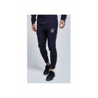Siksilk Zonal Track Pants-Navy and White