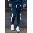Sinners Attire Poly Joggers-Navy