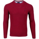 Andre Crew Neck Waffle Jumper-Port