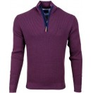 Andre Dalkey Half Zip Jumper-Purple