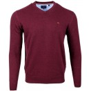 Andre Valencia V-Neck Jumper-Purple