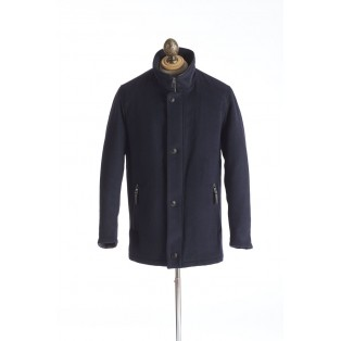 Bugatti Navy Wool Car Coat