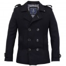 Cavani Wallance Wool Coat-Navy