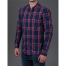 Diesel Charlie L/S Check Shirt in Navy Check