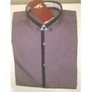 King Pin Costa Button Down Collar Ruby Wine Shirt