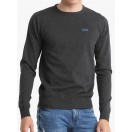 Diesel Lucas Round Neck Jumper-Coal Dust