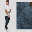 EJ Denim Super Stretch Reflex Jeans-Mid Blue Jeans