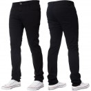 Enzo Stretch Black Chinos