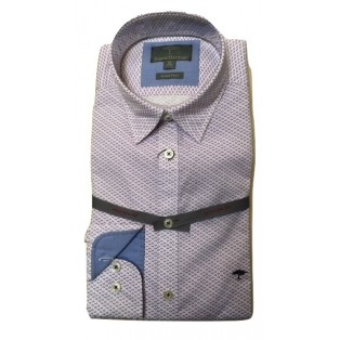 Fynch Hatton Summer Print Shirt-Light Blue Orchid