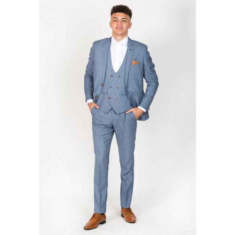 Marc Darcy George 3 Piece Suit-Sky Blue 7f3d8f9d9206